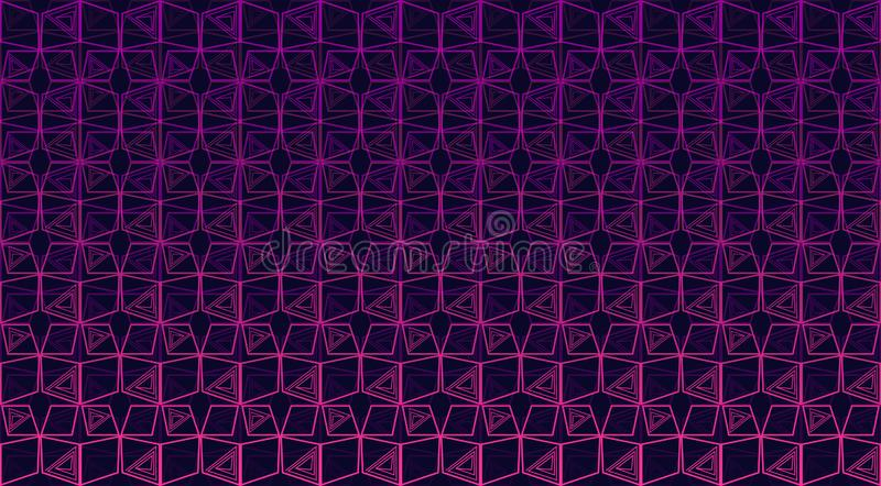 Seamless multicolor geometric background stock illustration