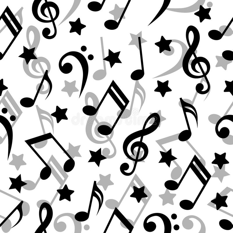 Download Seamless music notes. stock vector. Image of treble, star - 14418687