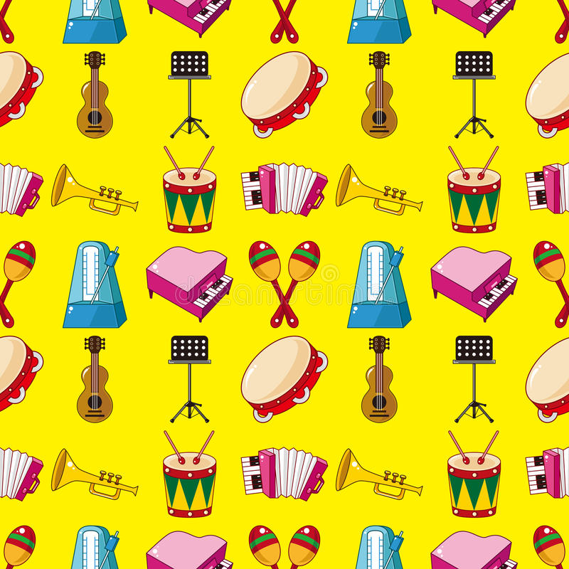 Download Seamless music pattern stock vector. Image of illustration - 28170053