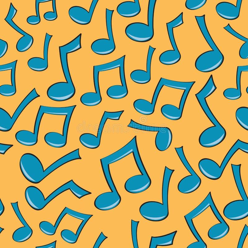 seamless musikanmärkningsmodell stock illustrationer