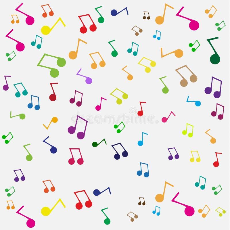 Seamless musikbakgrund royaltyfri illustrationer