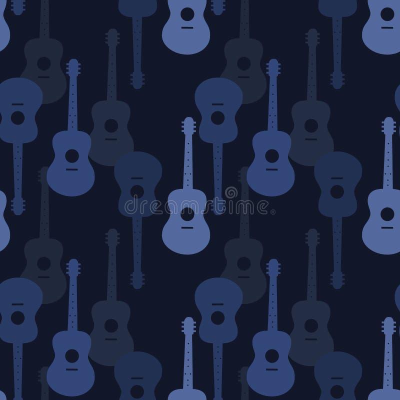 seamless musikmodell royaltyfri illustrationer