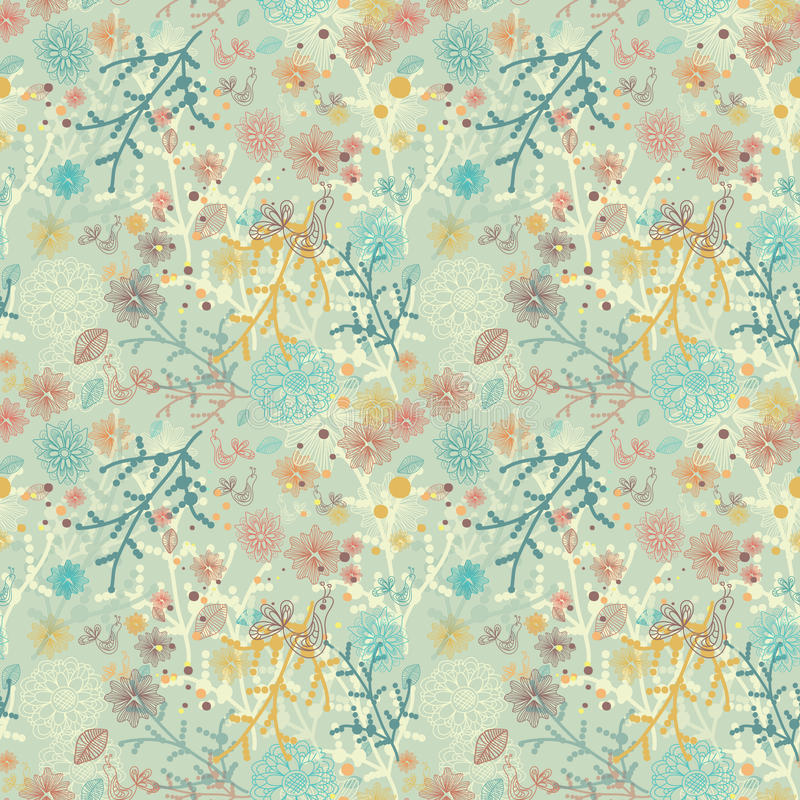 Download Seamless natural pattern stock vector. Image of decor - 26671867