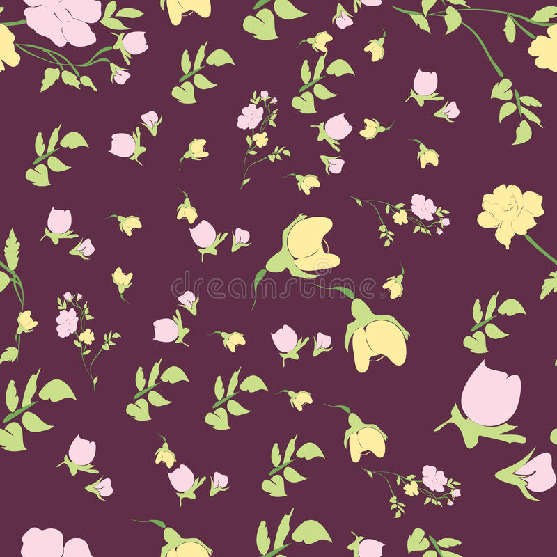 Seamless nature pattern royalty free stock images