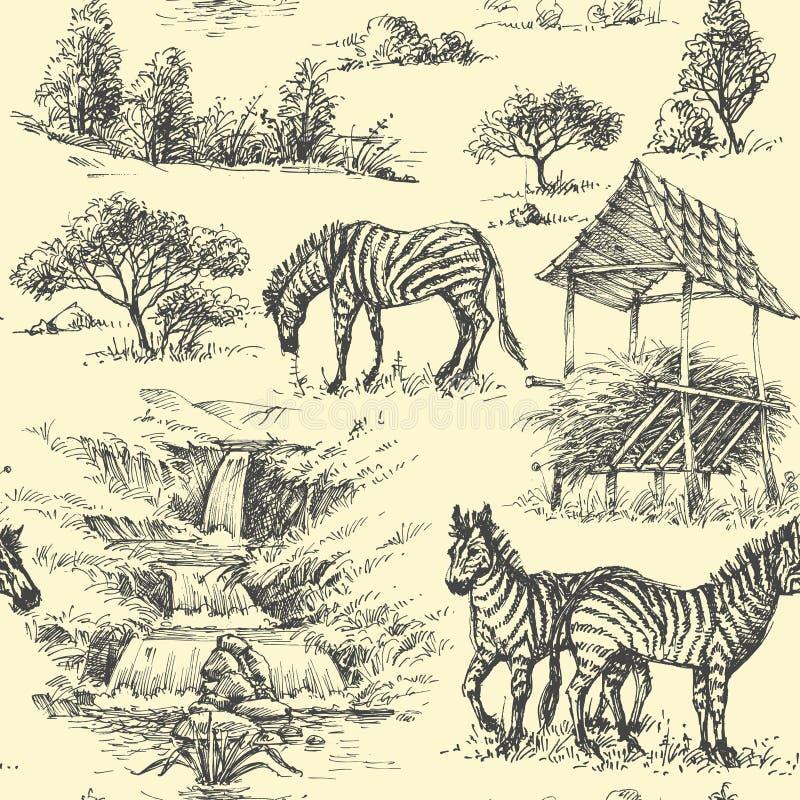 seamless naturmodell stock illustrationer