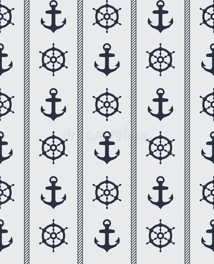 Download Seamless nautical pattern stock vector. Illustration of steering - 22771924