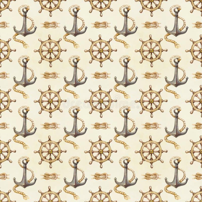 Free Seamless Nautical Pattern Stock Image - 31344841