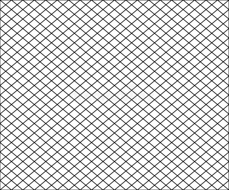 Seamless net texture pattern with black squares on white vector illustration