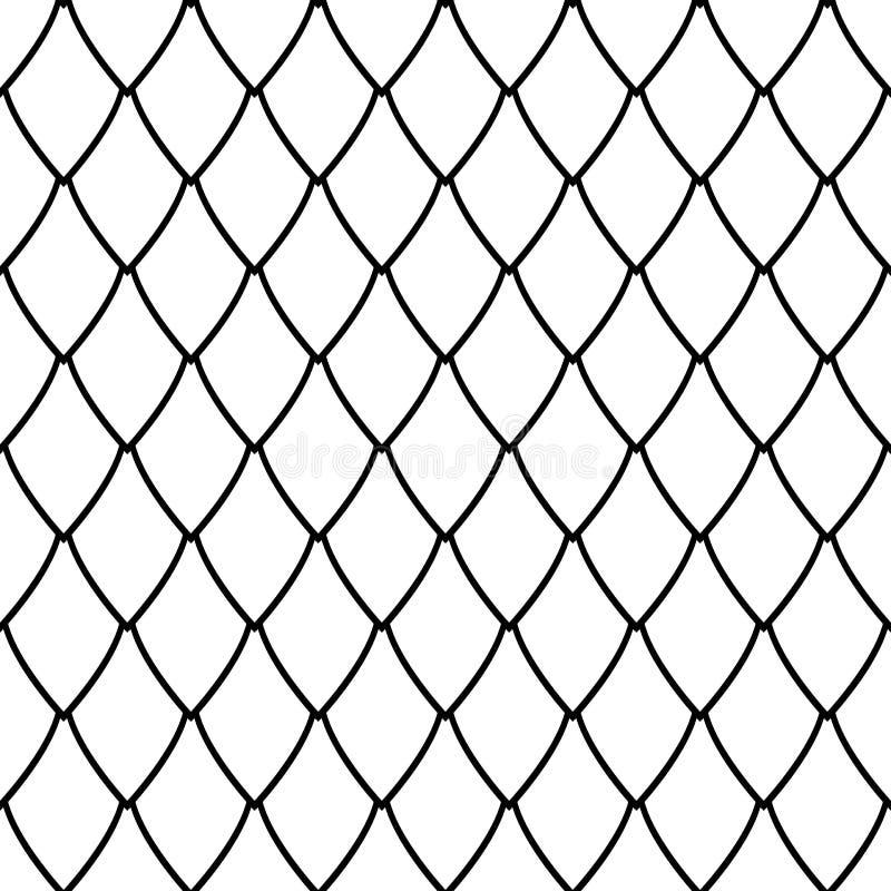 Seamless netto mönstrar vektor illustrationer
