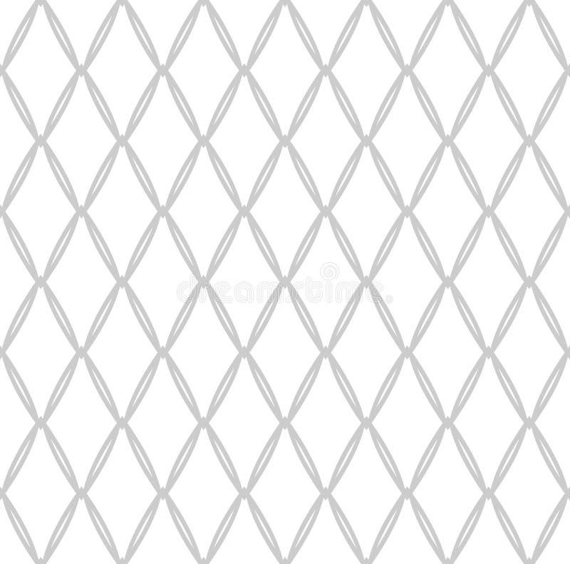 Seamless netto mönstrar Geometrisk latticed textur stock illustrationer