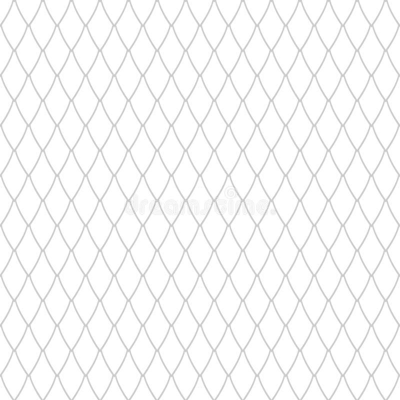 Seamless netto mönstrar Latticed textur stock illustrationer
