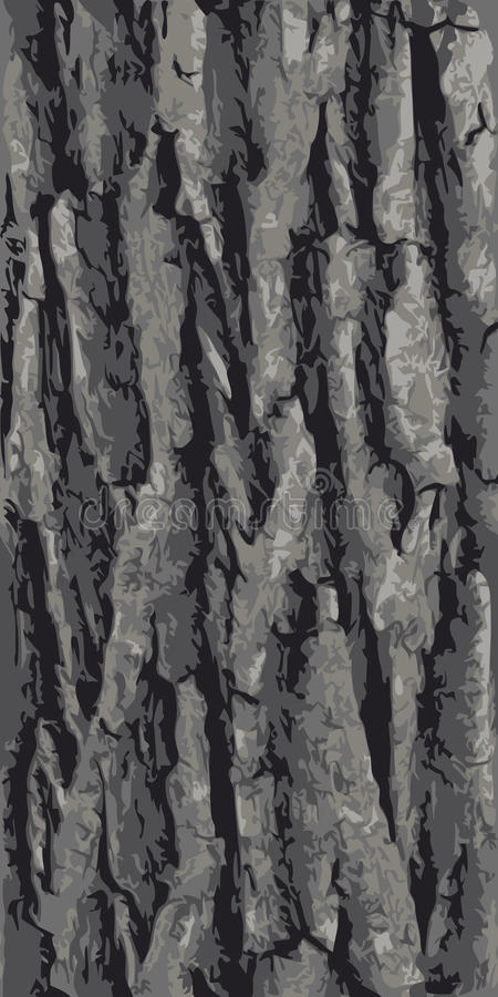 Seamless oak bark. Seamless tree bark vector texture vector illustration