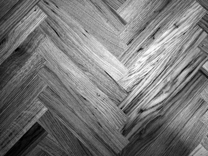 Seamless Oak laminate parquet floor. Texture background in black and white stock images