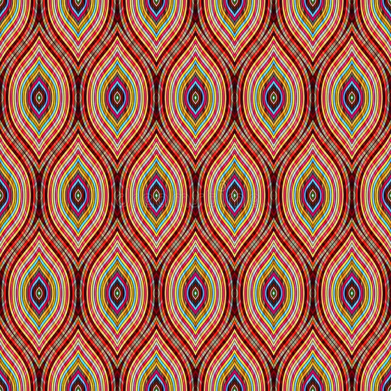 Seamless ogee pattern. Wavy geometric ornament. Print for textiles. vector illustration