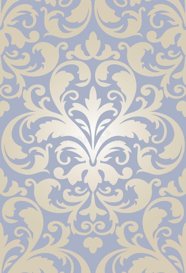 Old baroque wallpaper seamless royalty free illustration