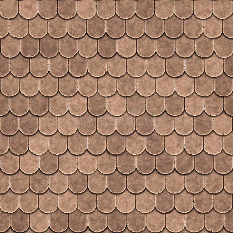 Seamless Old Roof Texture Stock Illustration Illustration