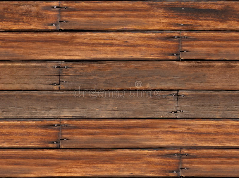 Seamless Old Wood Plank Background Royalty Free Stock Image