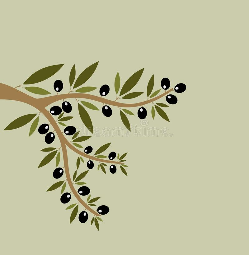 Seamless olive branches stock illustration