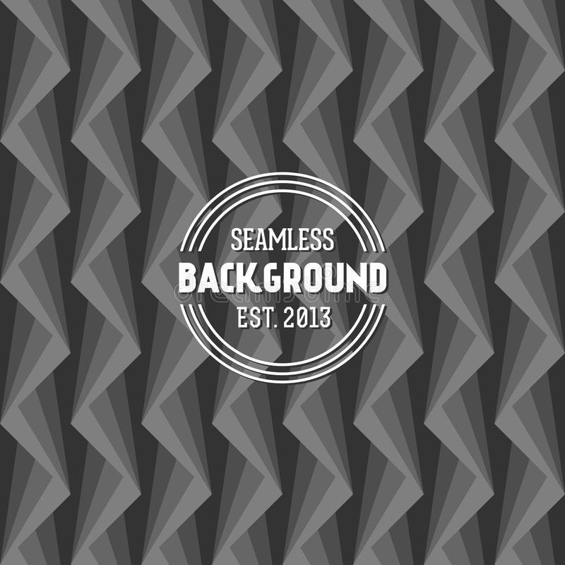 Seamless op art background stock illustration