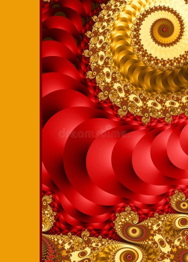Design of spiral ornamental notebook cover. Design of spiral ornamental notebook cover stock illustration