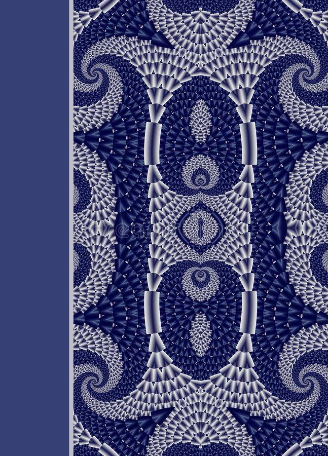 Design of spiral ornamental notebook cover. Design of spiral ornamental notebook cover vector illustration