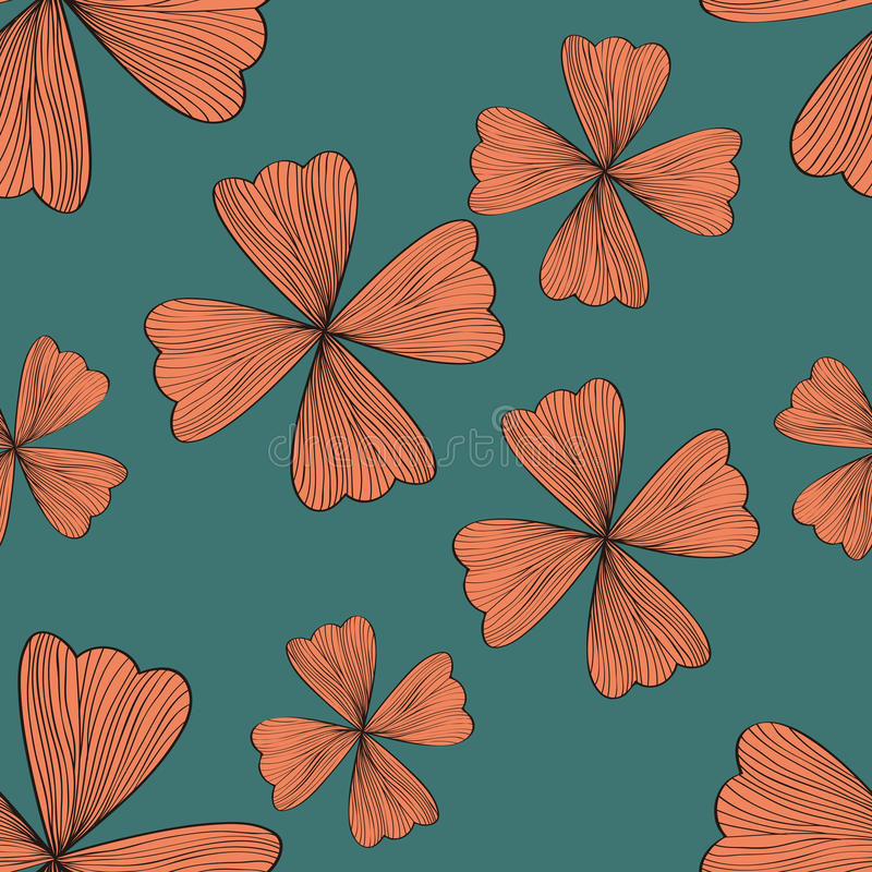 Download Seamless Orange Flower Pattern Stock Vector - Image: 27613828