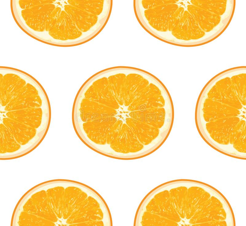Seamless orange fruit pattern royalty free stock photo