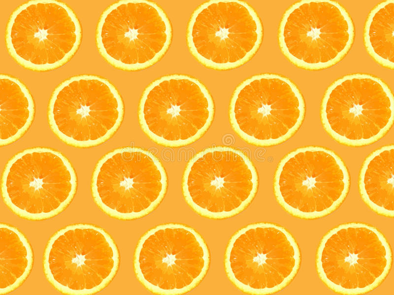 Seamless Oranges background. With fully editable files included stock illustration