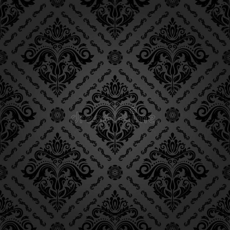 Seamless Oriental Background. Oriental classic pattern. Seamless abstract background with repeating elements. Dark vintage pattern vector illustration