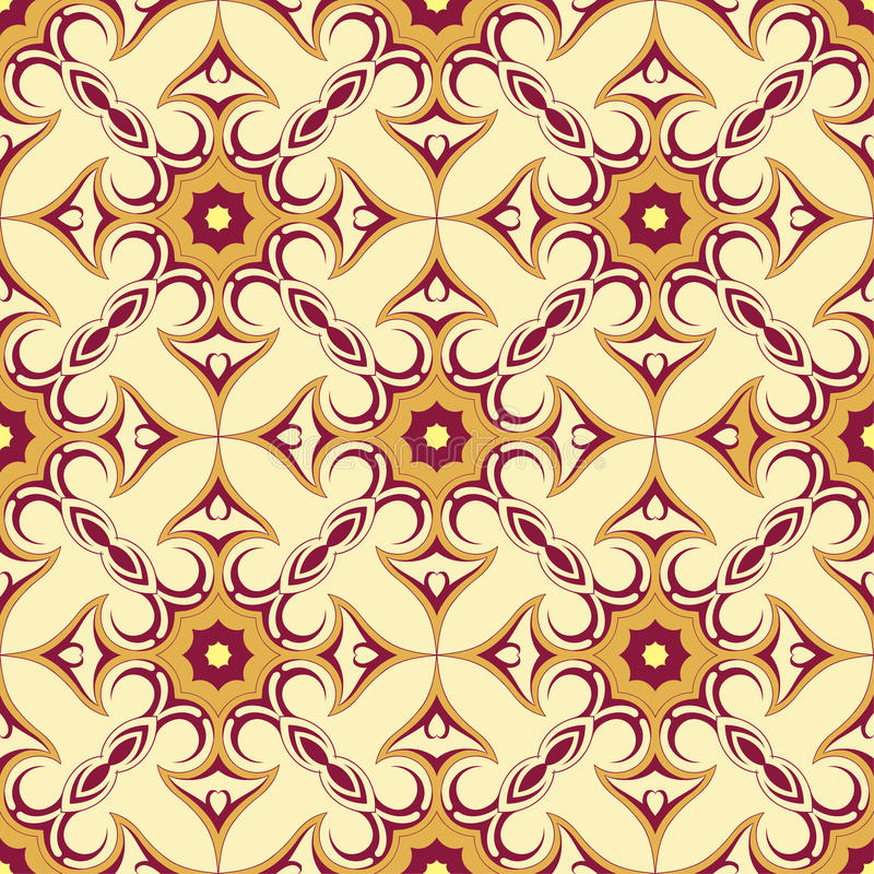 Seamless ornament with arabic style elements royalty free stock photo