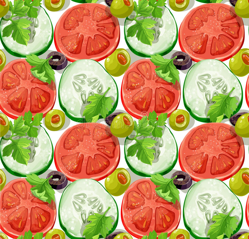 Download Seamless Ornament Delicious Slices Of Cucumber And Stock Vector - Illustration of isolated, delicious: 29830837
