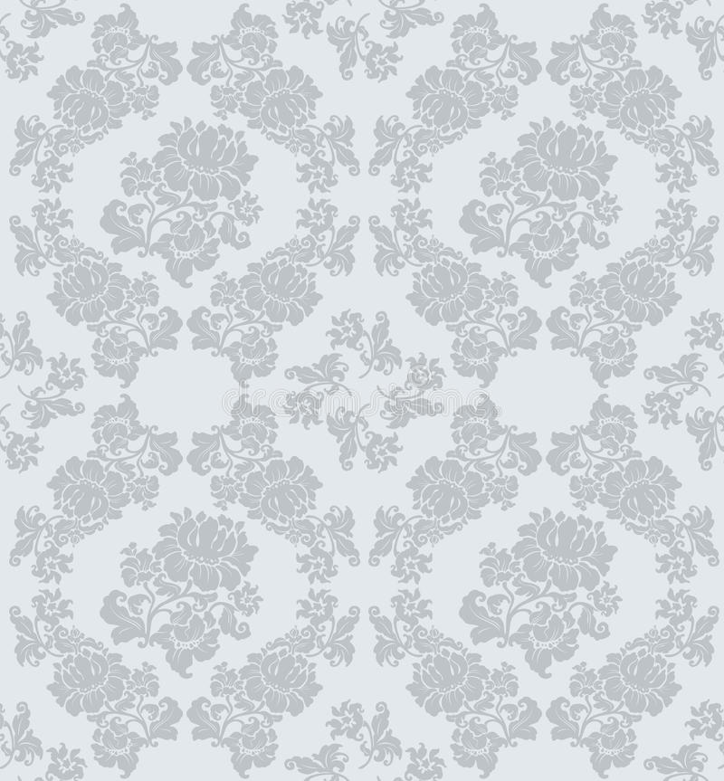 Seamless ornament floral, gray royalty free illustration