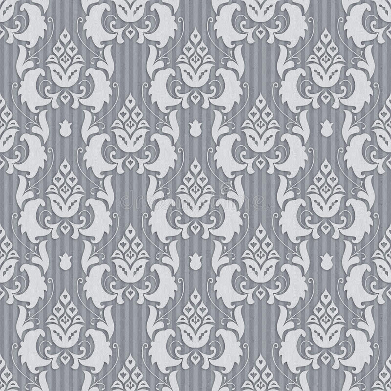 Download Seamless ornament in gray stock illustration. Image of damascus - 17738023