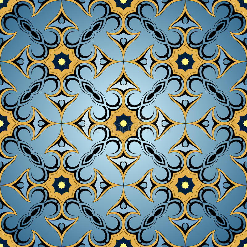 Seamless ornament stock images