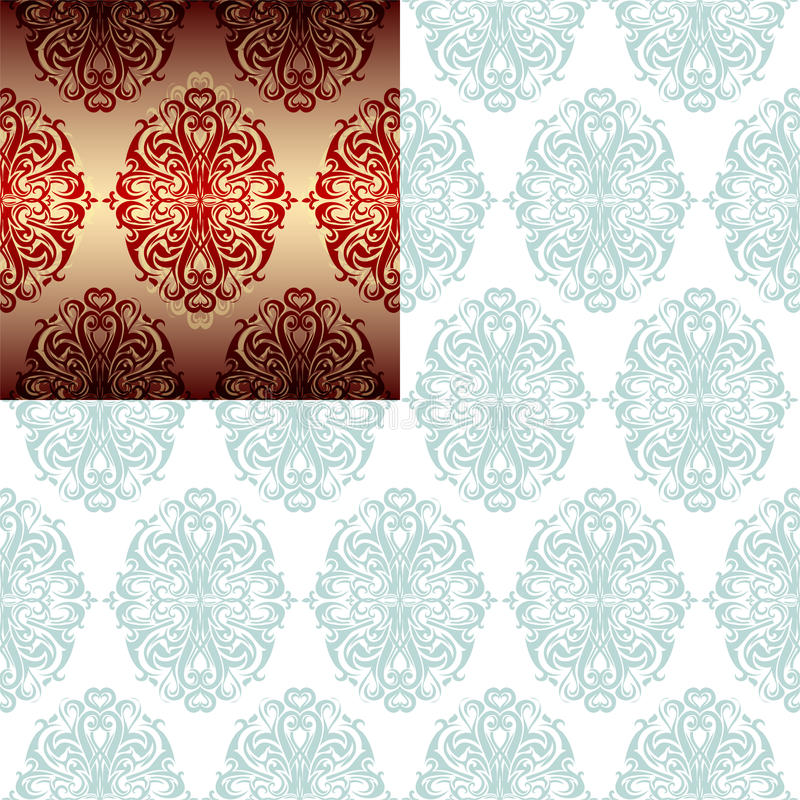 Seamless ornament royalty free stock images
