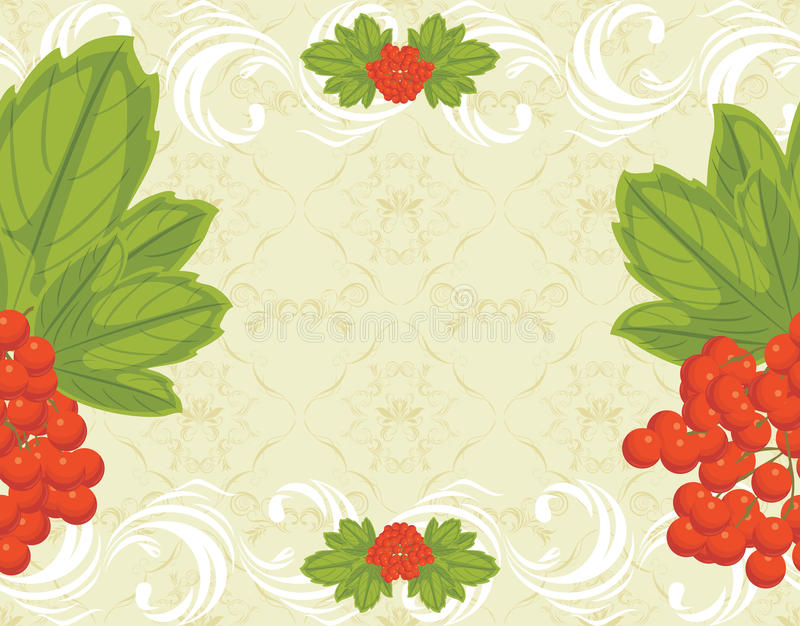 Download Seamless Ornamental Background With Red Berries Bu Stock Vector - Illustration: 34362896