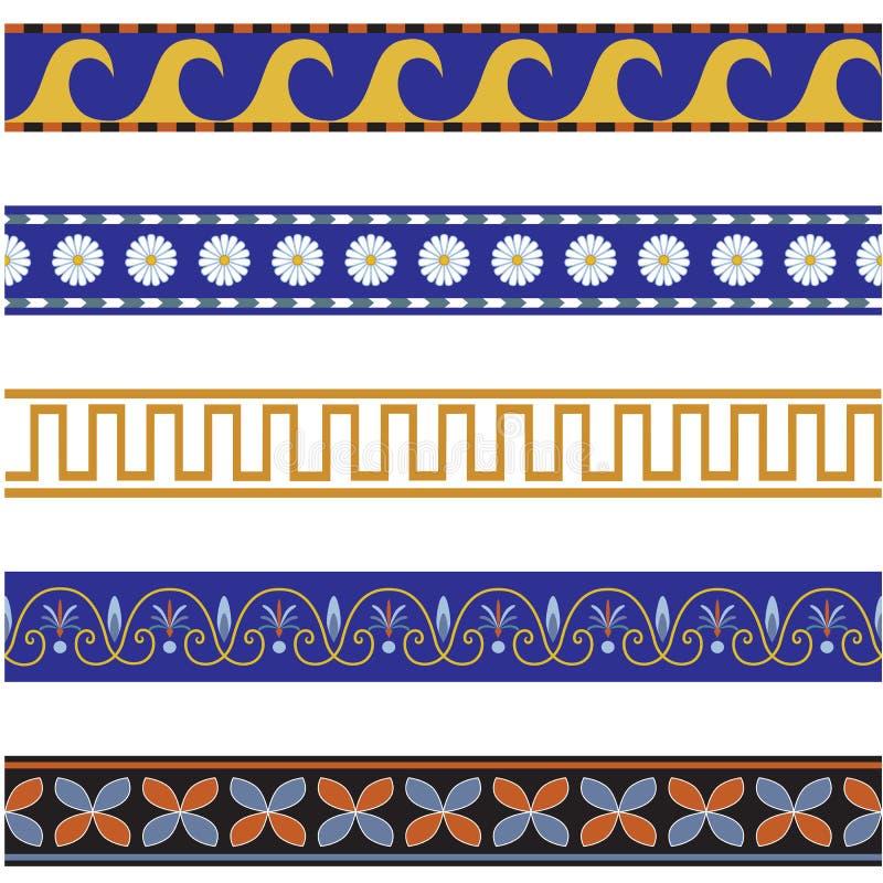 Seamless ornamental borders stock image