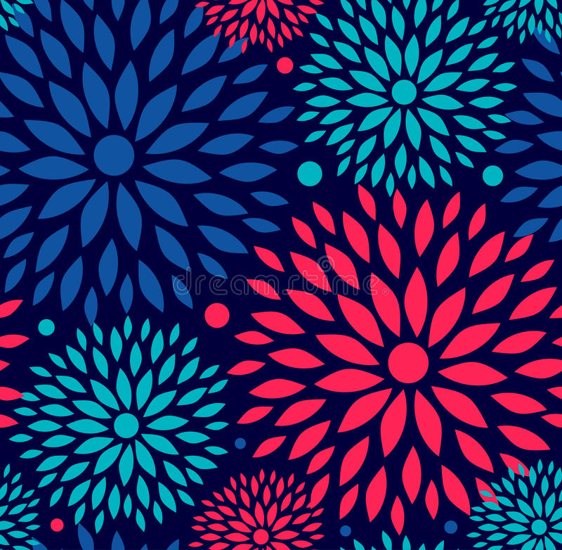 Seamless ornamental floral pattern. vector illustration