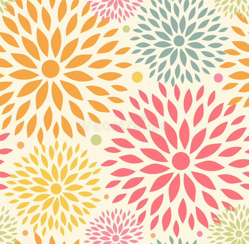 Seamless ornamental floral pattern. Decorative cute background royalty free illustration