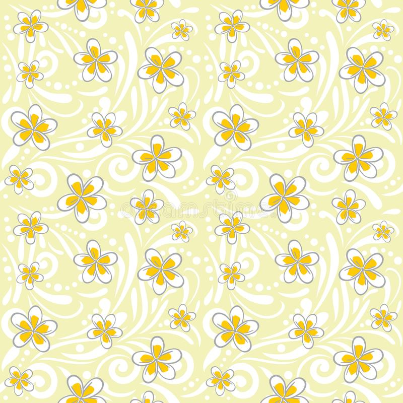 Seamless ornamental pattern with plumeria flowers royalty free stock image