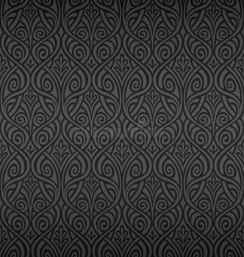 Seamless Ornamental Wallpaper royalty free illustration