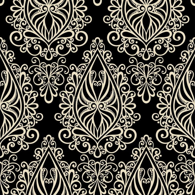 Seamless Ornate Abstract Pattern Stock Images