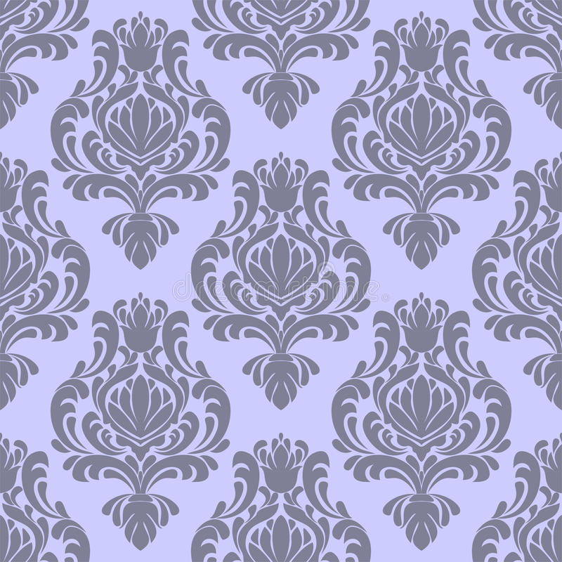 Seamless ornate damask Pattern in retro Style vector illustration