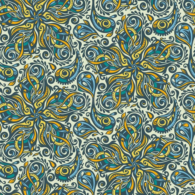 Download Seamless Ornate Floral Pattern Stock Illustration - Image: 25824677