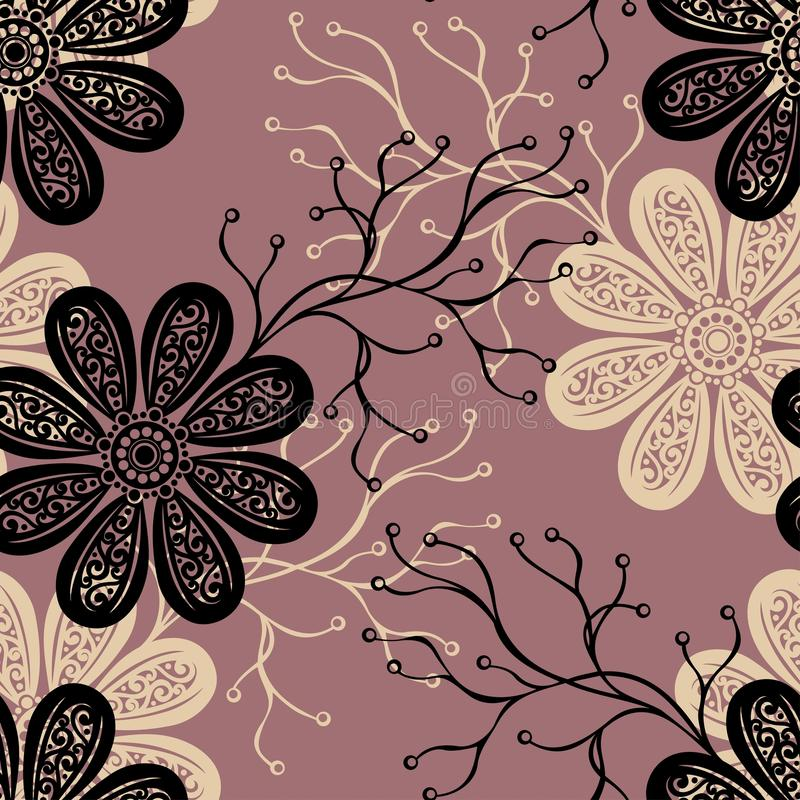 Download Seamless Ornate Floral Pattern Stock Vector - Image: 36272690