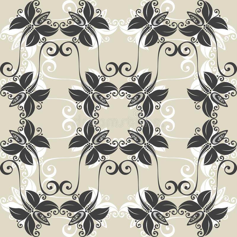 Download Seamless Ornate Floral Pattern Stock Vector - Image: 36272786
