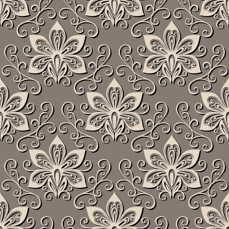Download Seamless Ornate Floral Pattern Stock Vector - Image: 36272843