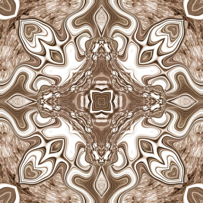 Seamless ornate texture or pattern in brown 4 royalty free stock photography
