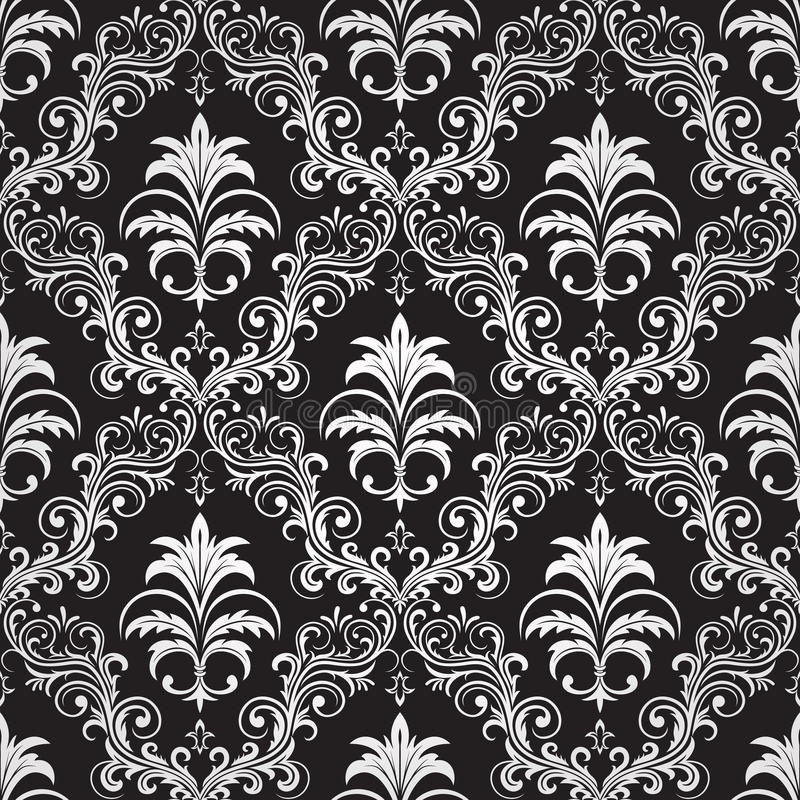 Download Seamless Ornate Wallpaper Stock Vector Illustration Of Gothic