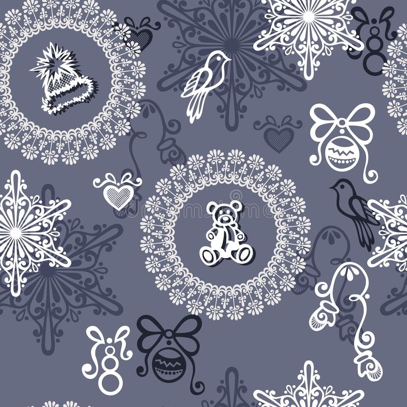 Download Seamless Ornate Winter Pattern (Vector) Stock Vector - Image: 36273085